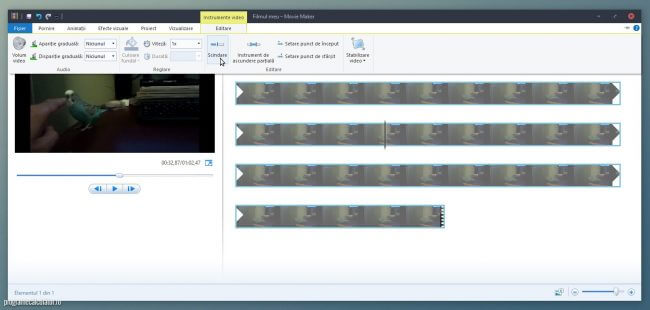 schindarea unui video cu Movie Maker