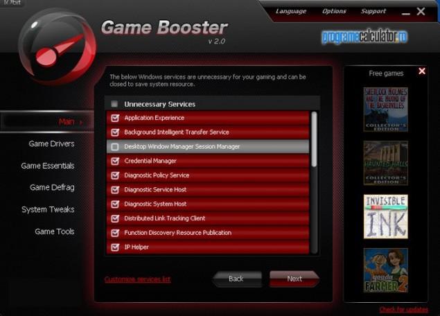 2-Optimizeaza calculatorul pentru jocuri cu Game Booster