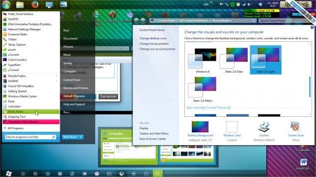 Tema Static 2.0 pentru Windows 7