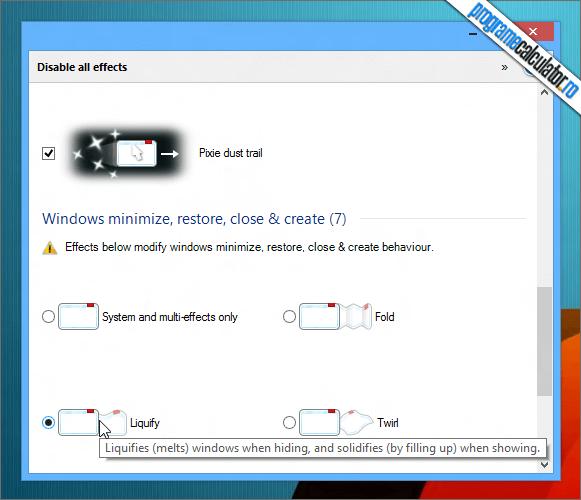 Efecte speciale pentru Windows