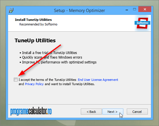 I accept the terms of the TuneUp Utilities