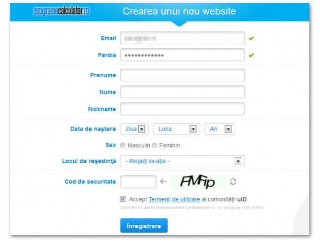 Crearea unui nou Website pe uCoz.ro