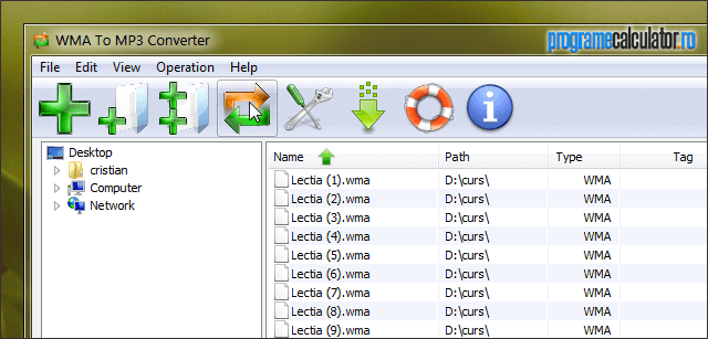 WMA To MP3 Converter » Convert the files in the list
