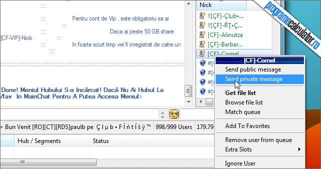 ApexDC chat