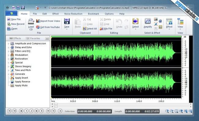 program de taiat melodii - Power Sound Editor