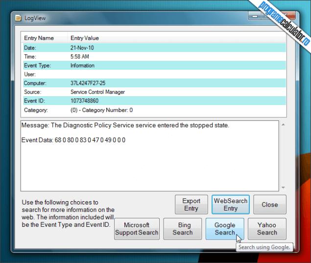 3-Windows Event Viewer Plus-detalii-eveniment
