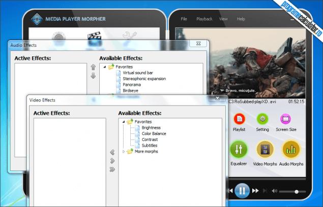 4-AV Media Player Morpher-efecte-audio-video