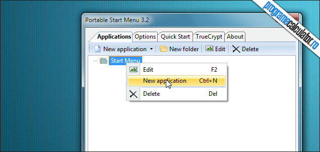 1-Portable Start Menu-interfata