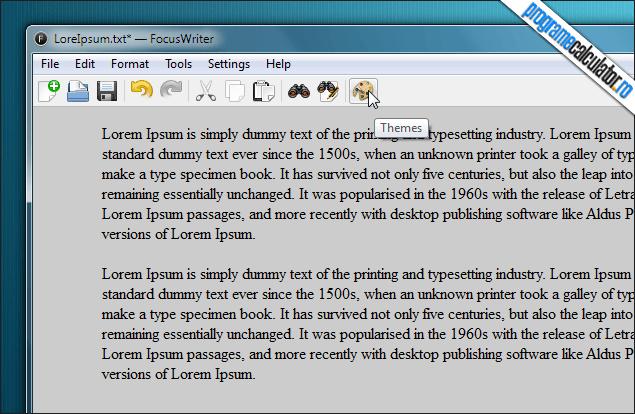 FocusWriter-interfata-editor