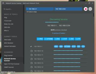 NetCrunch - Network Service-Scanner