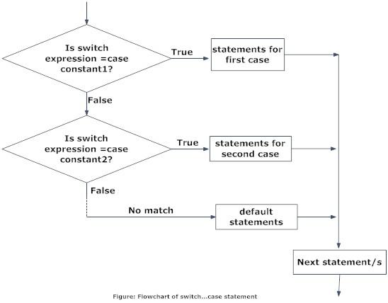 switch statement c programming wire data