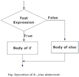 Flowchart of if...else statement in Python Programming