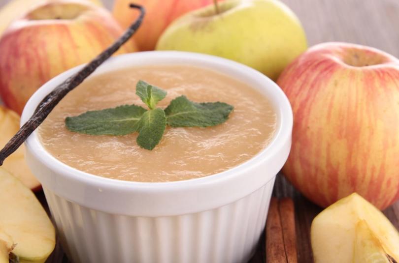 Compote de pomme à la vanille