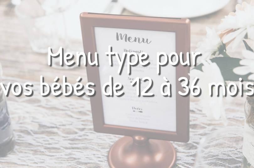 Idées de menu pour les bébés de 12 à 36 mois