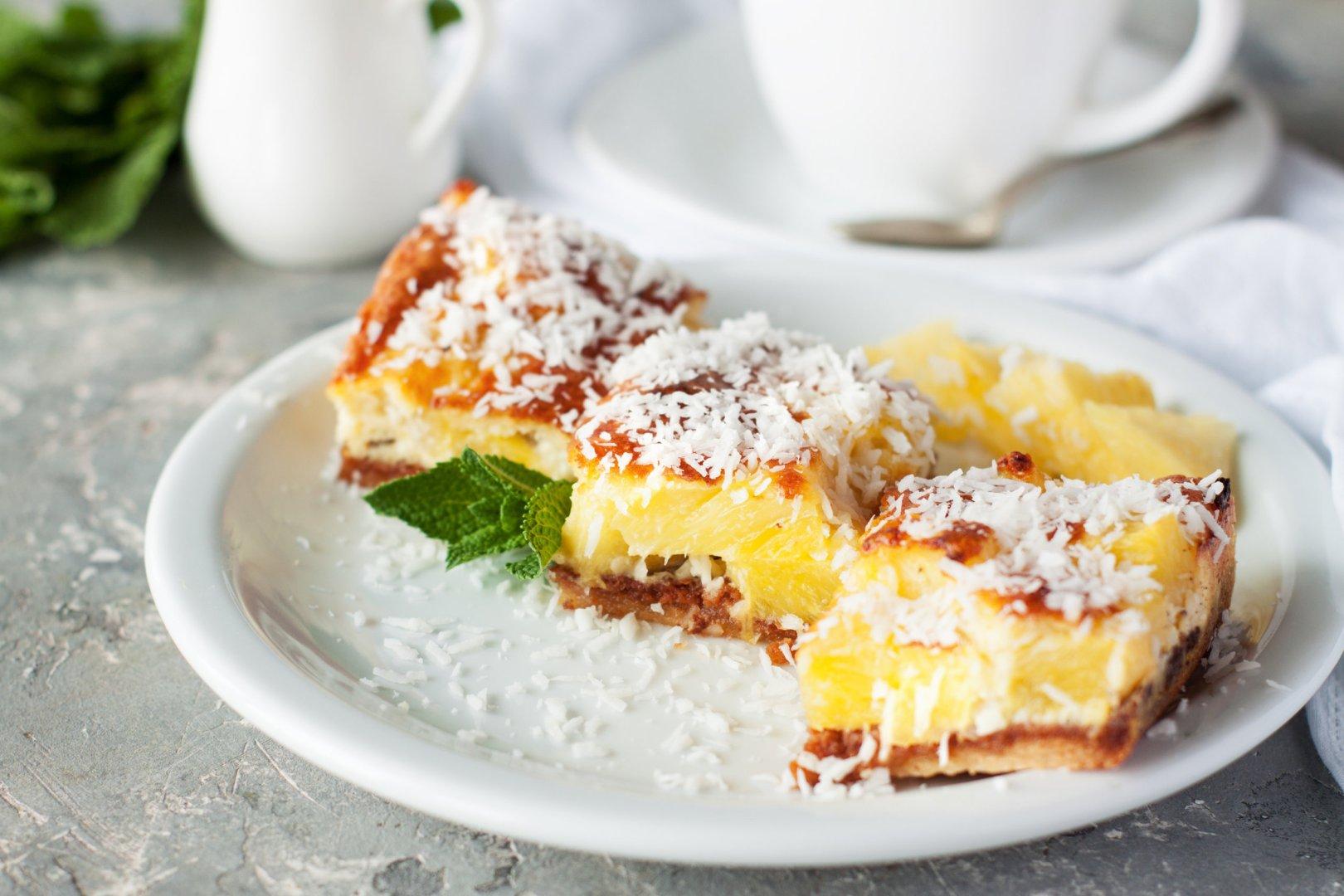 Tarte ananas et coco