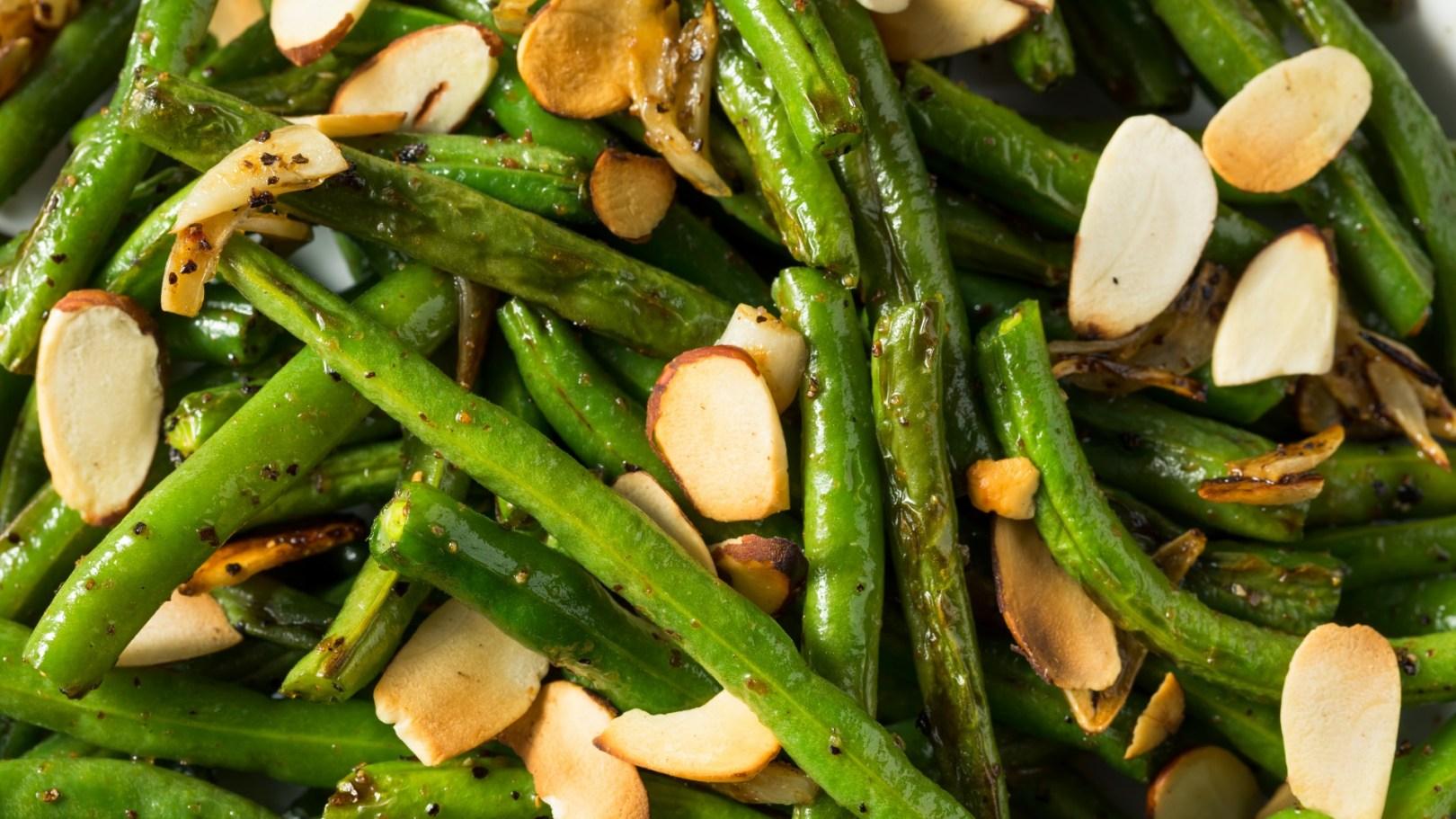 Salade de haricots verts aux amandes