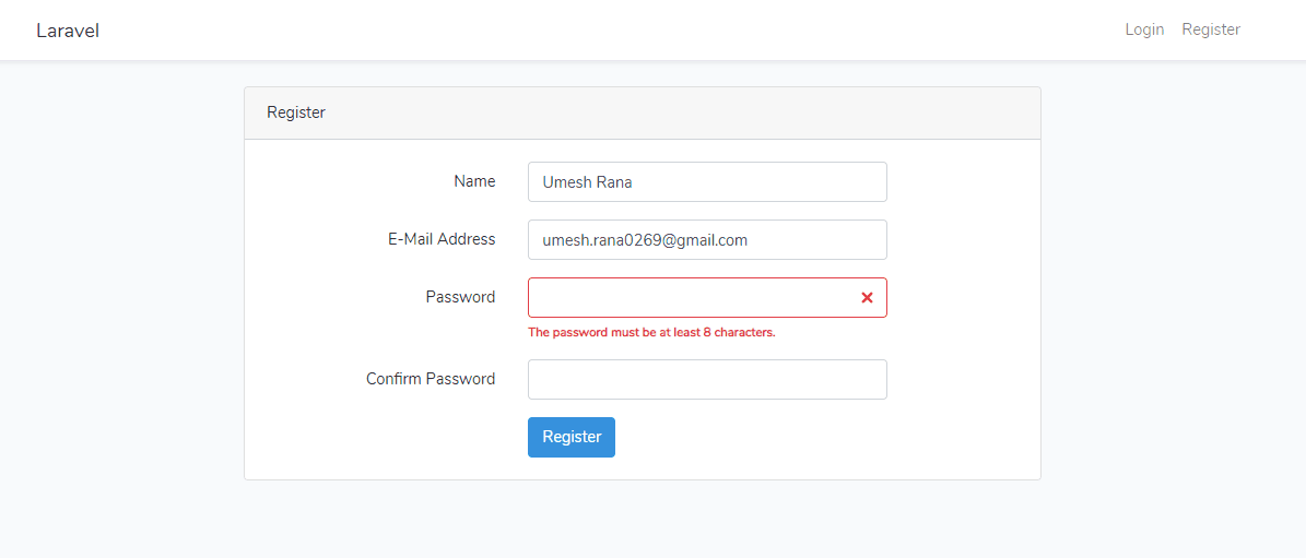 Laravel 6 Form Validation