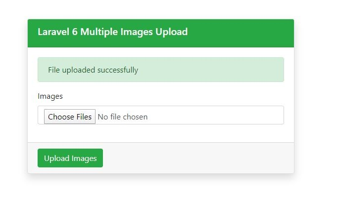 Multiple Images uploaded successfully