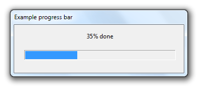Windows Progress Bar Example