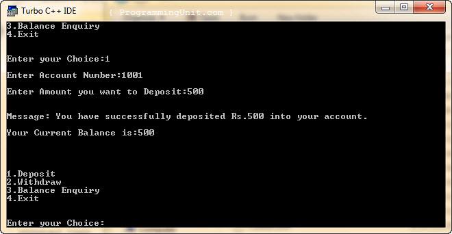 deposit-banking-program-cpp