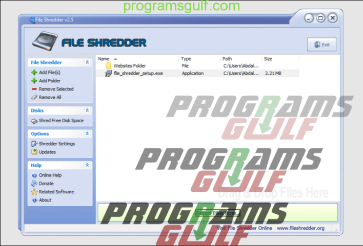 برنامج File Shredder