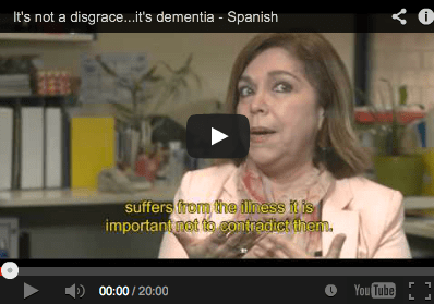 Its Not A Disgrace Its Dementia in Spanish