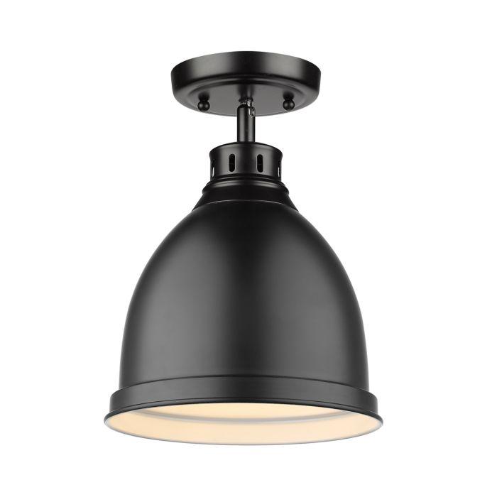 duncan ceiling light in black