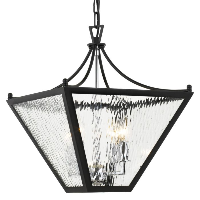 park hill foyer light in matte black and polished chrome