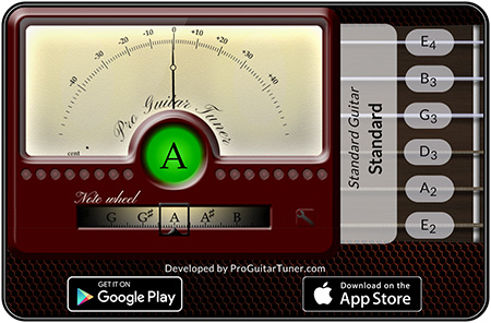 Online Guitar Tuner   ProGuitar