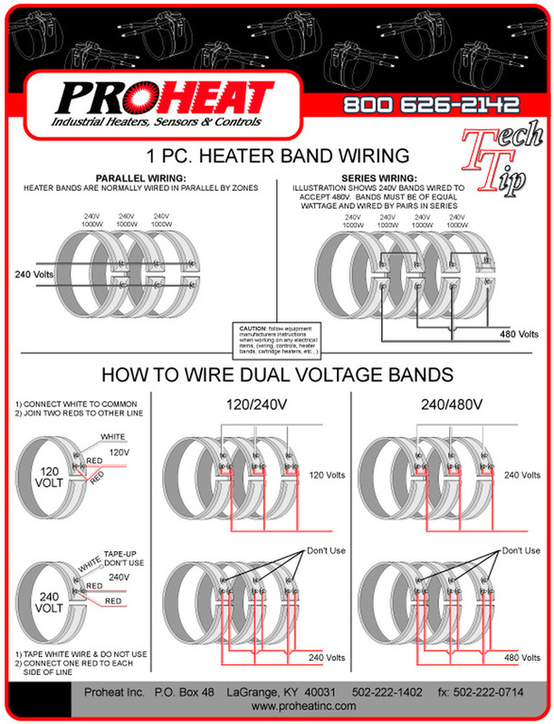 1piece heater band wiring diagrams  proheat inc  502