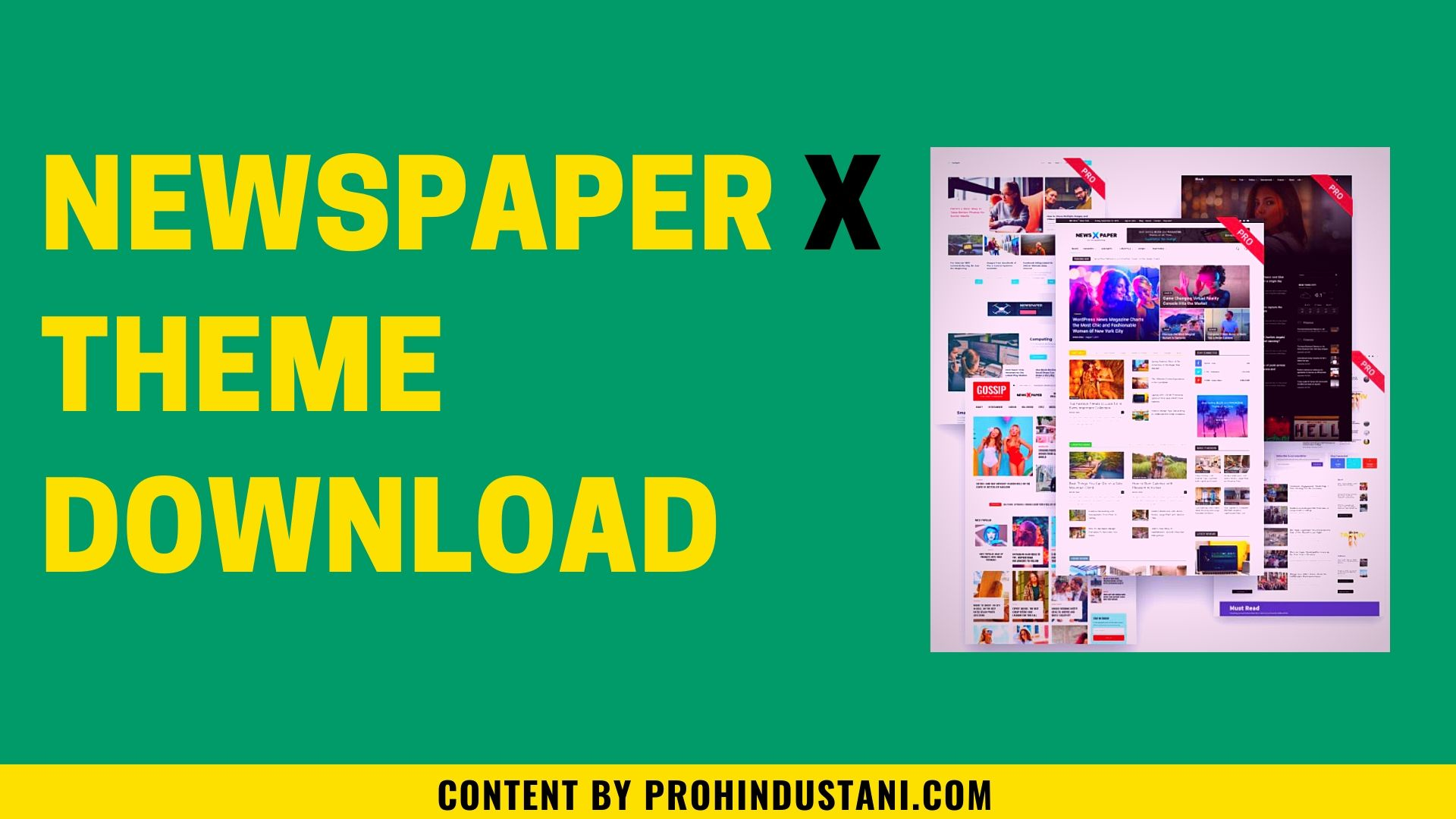 Newspaper x theme with key