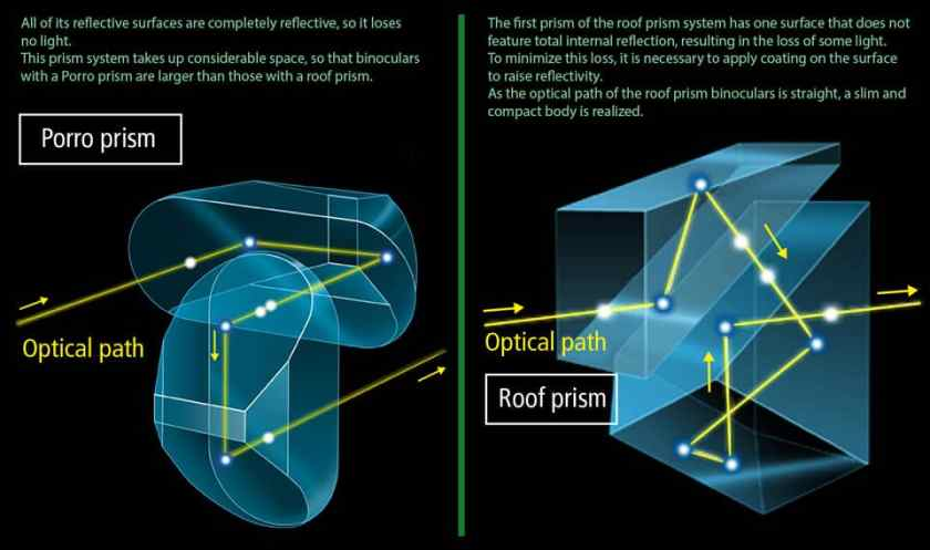 Prism Types of Binoculars Explained