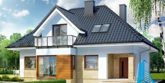 Proiect de casa cu parter, mansarda -100604
