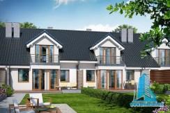 Proiect de casa tronson cu mansarda si garaj pentru un automobil
