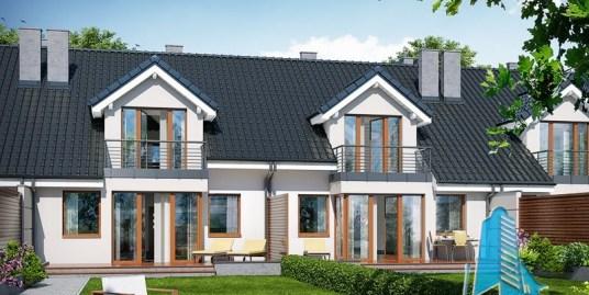 Casa tronson-blocata cu mansarda si garaj pentru un automobil-100563