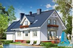 Proiect de casa cu subsol, parter, mansarda si garaj pentru doua automobile