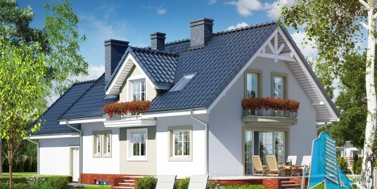 Casa de locuit cu demisol, parter, mansarda si garaj pentru doua automobile – 100574