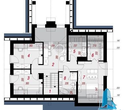 mansarda Proiect de casa cu parter, mansarda si garaj pentru un automobil