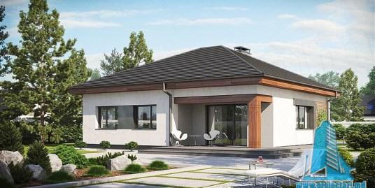 Proiect de casa cu parter si terasa de vara -100828