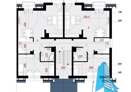 proiect de casa townhouse etaj 2
