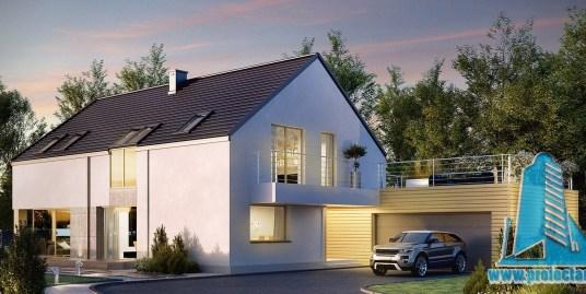 Casa cu parter mansarda si garaj pentru 2 automobile-442 m2-101039