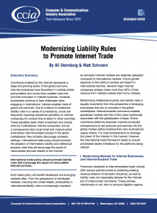How Liability Rules Influence Global Internet Investment ...