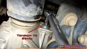 Torque front diff drain plug