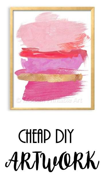 Cheap DIY Artwork