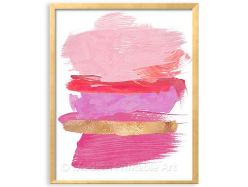 Pink abstract artwork