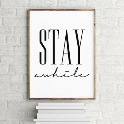 Stay Awhile Artwork