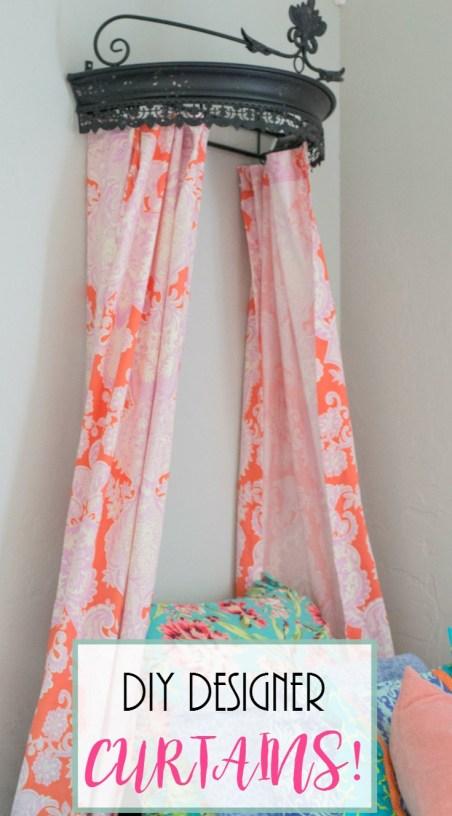 Project Allen Designs DIY Designer Curtains!