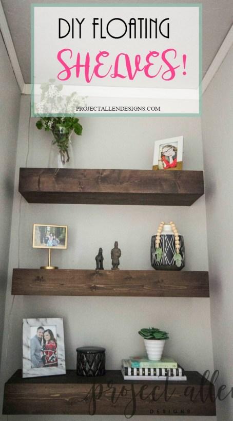 Project Allen Designs DIY Floating Shelves!