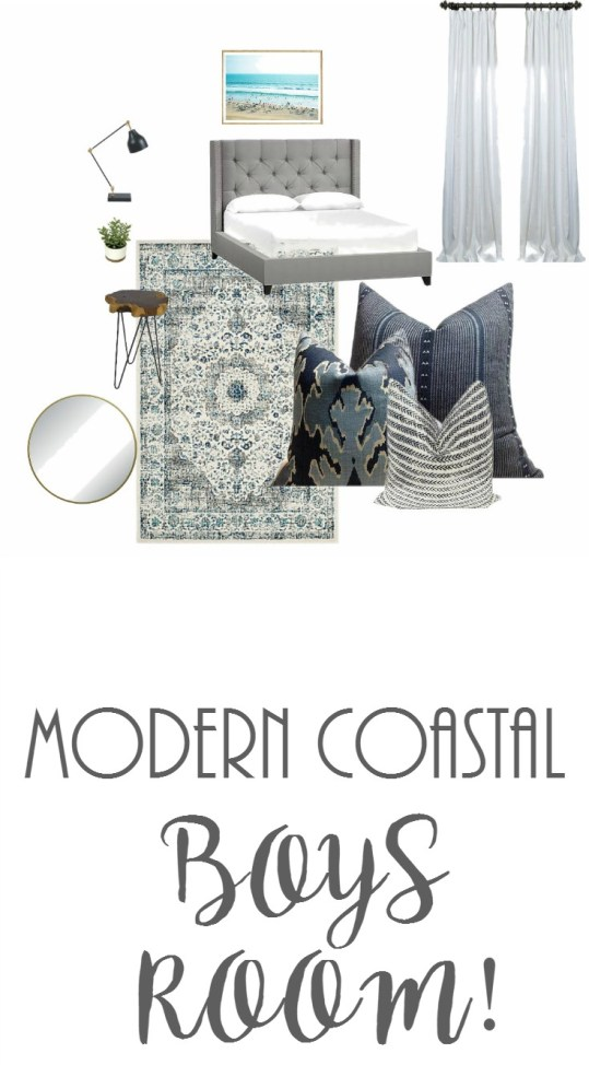 Project Allen Designs Modern Coastal Boys Room!