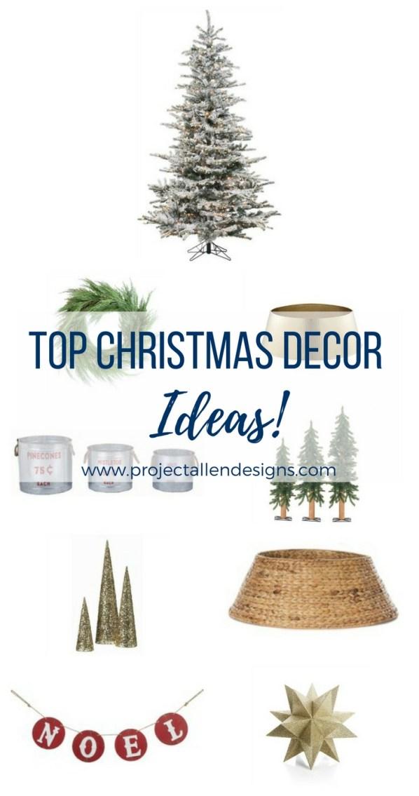 Top Christmas Decor Ideas, Christmas Trees, cheap Christmas decor, white christmas,gold christmas